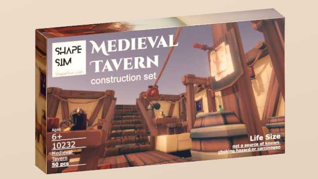 ShapeSim: Medieval Tavern construction set