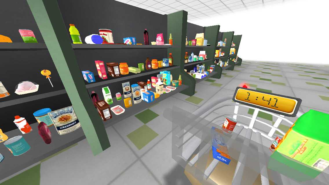 Virtual Reality Hidden Objects: the shopping list