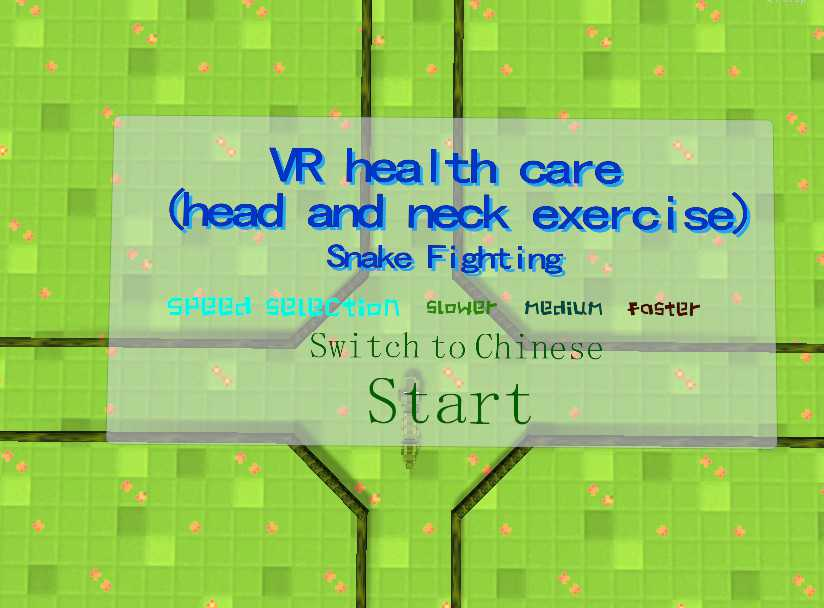 VR health care (head and neck exercise): Snake Fighting