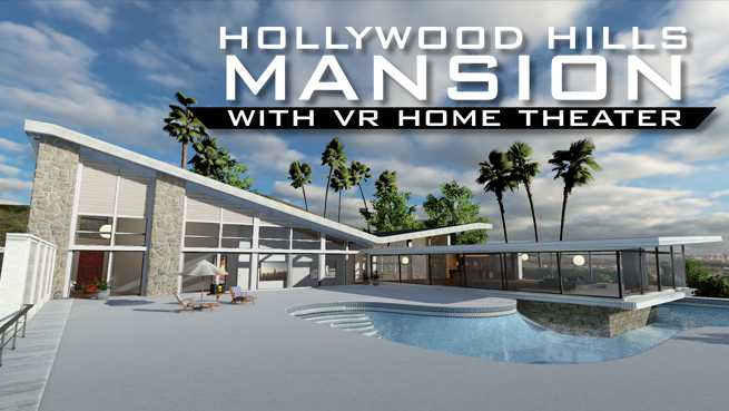 Hollywood Hills Mansion (With Home Theater)