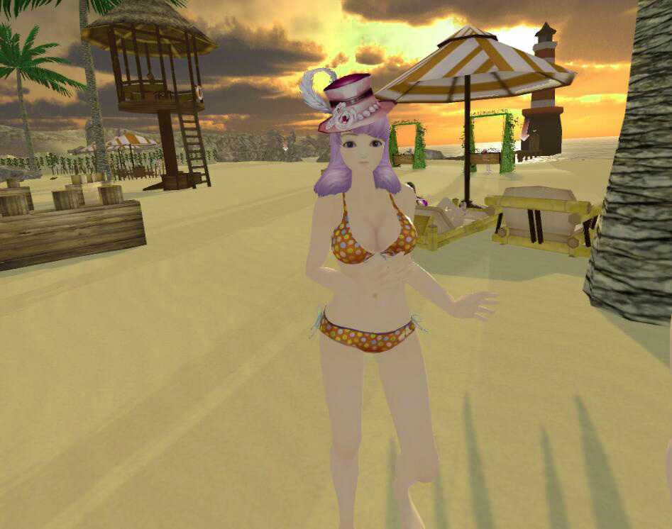 The beauties&zombies of beach for VR