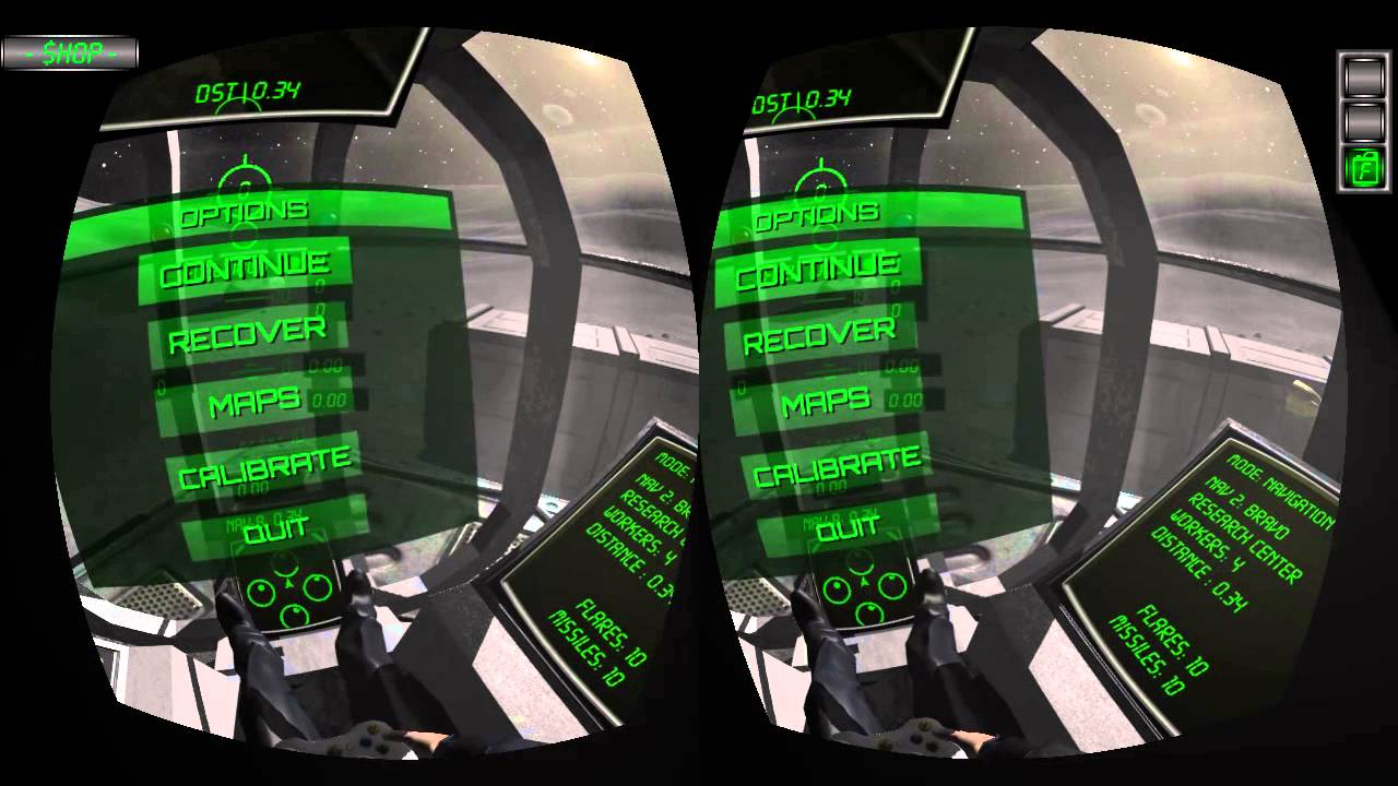 Captura de pantalla de Lunar Flight en el Oculus Rift