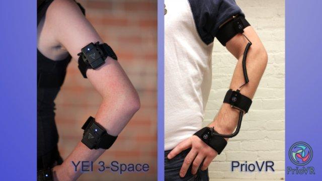 Sensores del sistema PrioVR