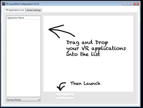 Configuración de VR LaunchPad