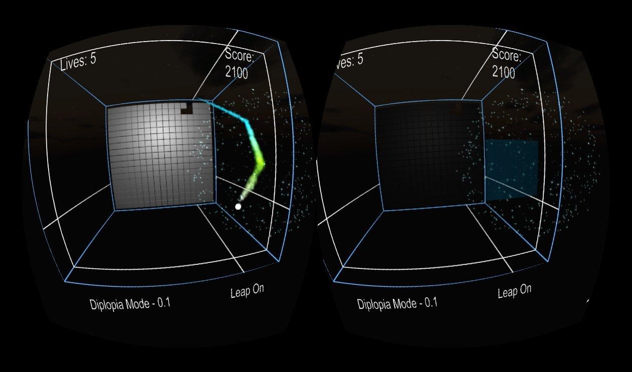 Imagen del juego con el modo diplopia activado