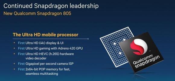 Detalles del Qualcomm Snapdragon 805