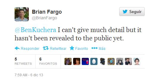 Tweet de Brian Fargo