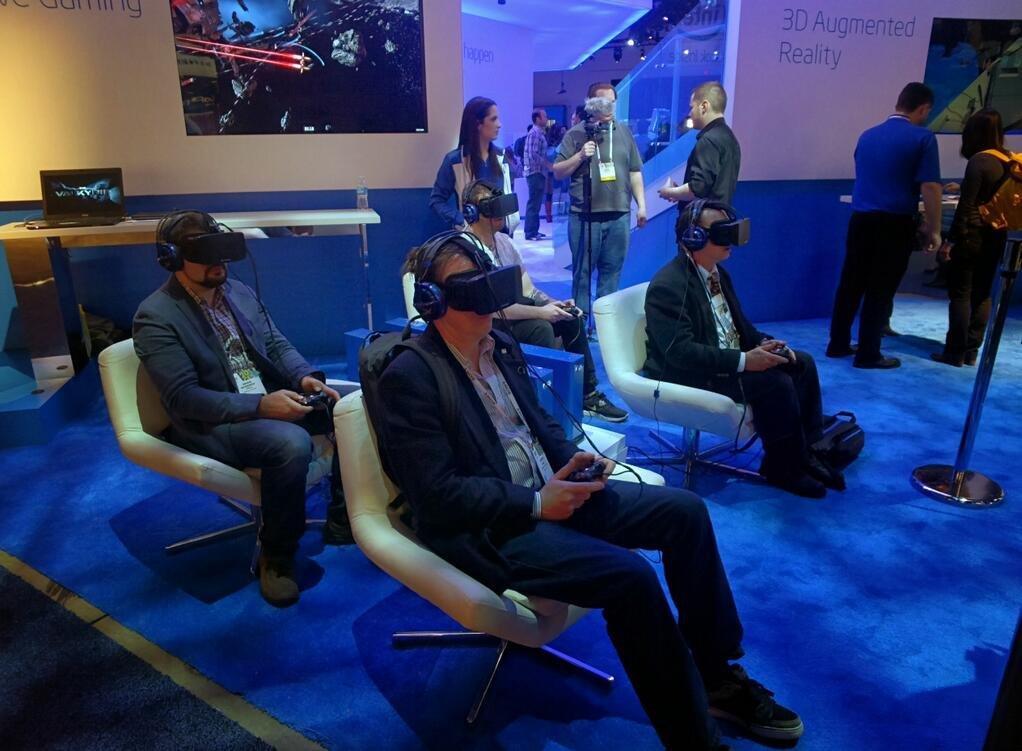 Imagen de Oculus Rift en el CES 2014