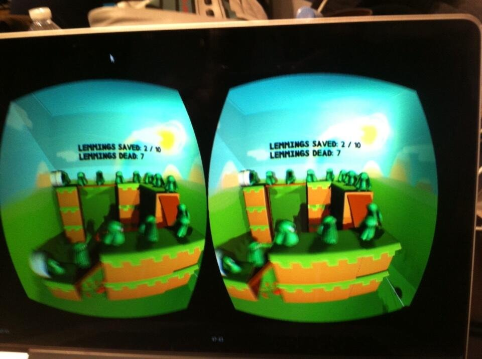 Lemmings en Oculus Rift