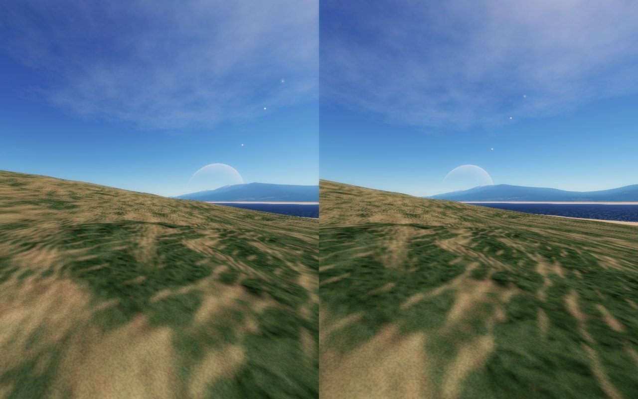 Space Engine en 3D lado a lado