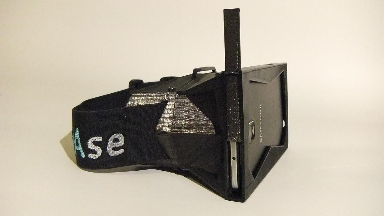 Cierre utilizado para asegurar el smartphone en el prototipo actual de vrAse