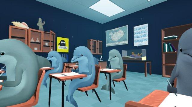 Delfines en clase