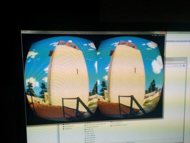Captura de pantalla de The Witness con Oculus Rift