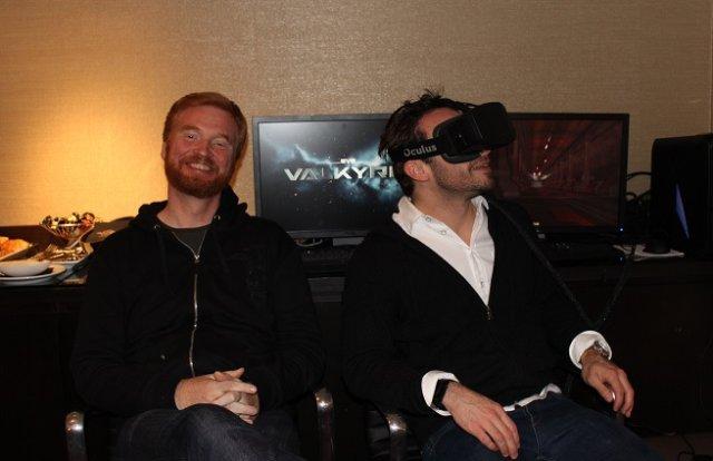 Hilmar Veigar de CCP Games y Brendan Iribe. Fuente: VentureBeat