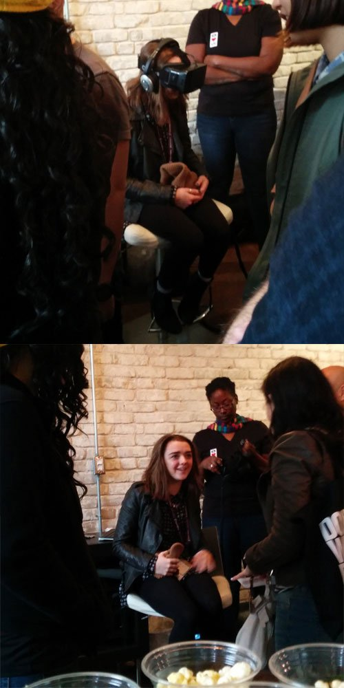 Maisie Williams prueba Oculus Rift