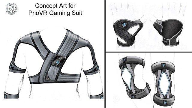 Concepto del traje PrioVR