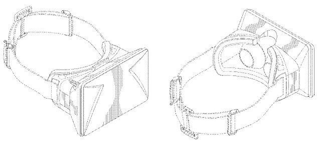 Imagen para la patente del DK1 de Oculus Rift