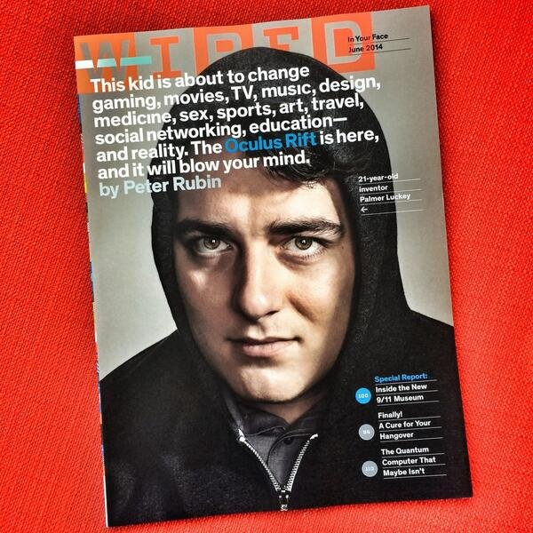 Portada de Wired con Palmer Luckey