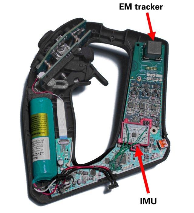 Sensores EM e IMU en un mando de STEM