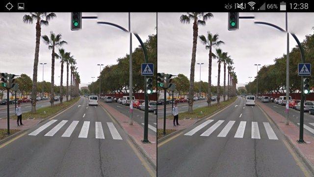 Google Streetview para Andriod en 3D lado a lado