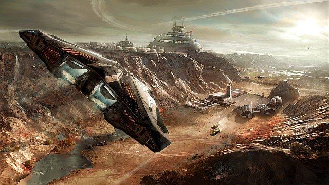 Imagen conceptual del aterrizaje planetario