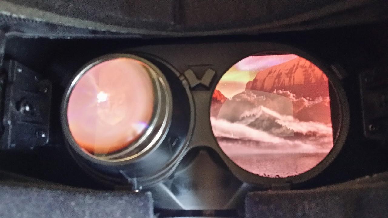Pantalla del Oculus Rift DK2 sin la lente