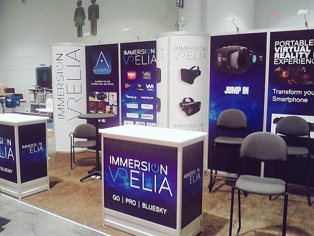 Stand de ImmersiON-VRELIA en el CES 2015