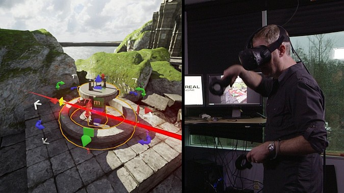 Editor de Unreal Engine 4 en realidad virtual