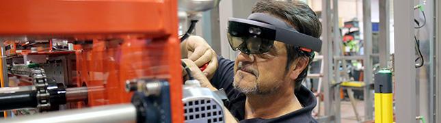 Hololens para la instalación de maquinaria industrial