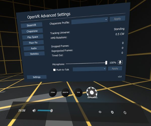 OpenVR Advanced Settings