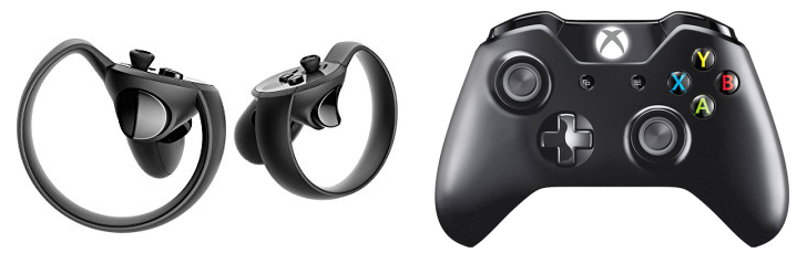 Oculus Touch y Gamepad de Xbox One