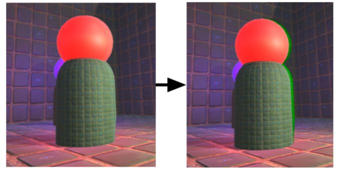 Stereo Shading Reprojection